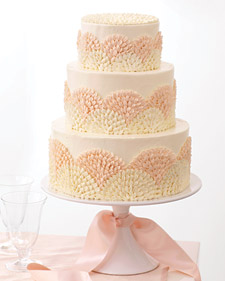 Kromer Covered Each Tier Of The Cake In Swiss Meringue Ercream Then Created A Repeated Flourish With